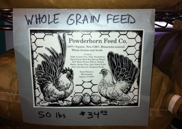 March 10:  Local, Organic Chicken Feed -- Good Enough for Me!